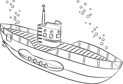 как нарисовать военную подводную лодку поэтапно