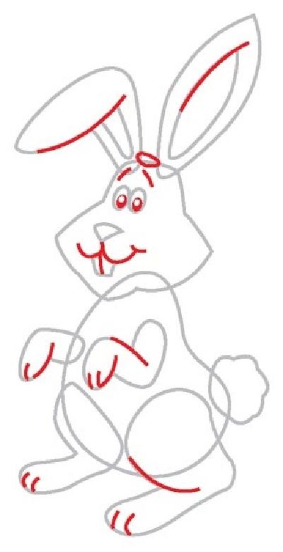 Видео как рисовать зайцев